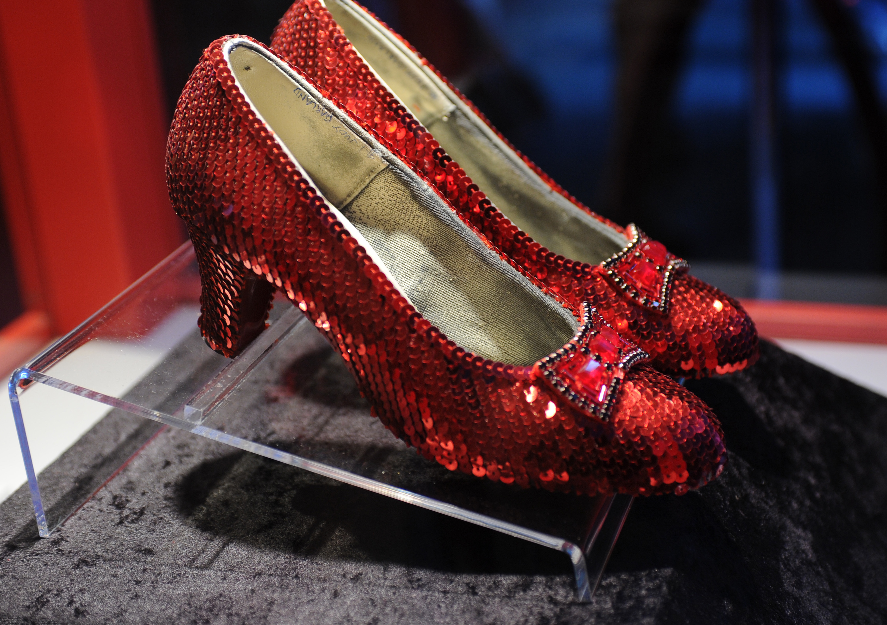 top quality new authentic new high quality Missing Pair Of Dorothy's Ruby Red Slippers From The Wizard ...