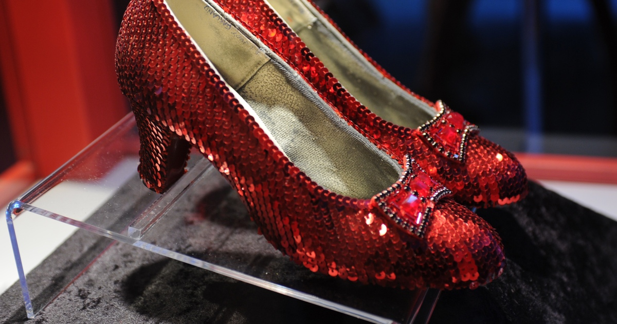 missing pair of dorothy u0026 39 s ruby red slippers from the