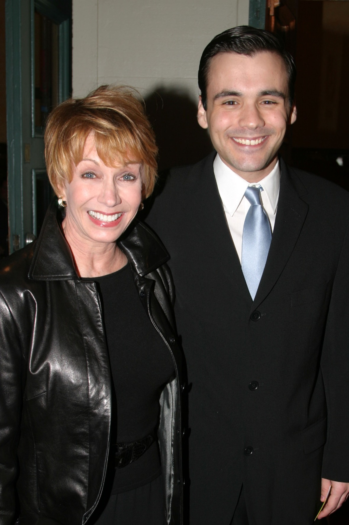 sandy and her son jeffrey. (photo credit: getty images)