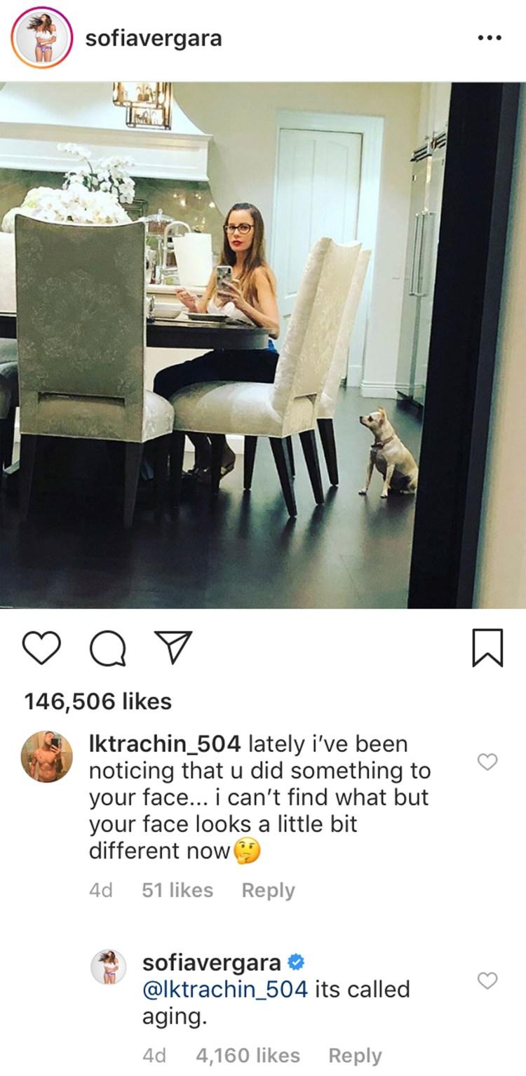 sofia vergara instagram comment