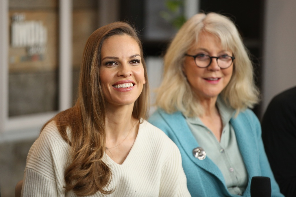Hilary Swank and Blythe Danner