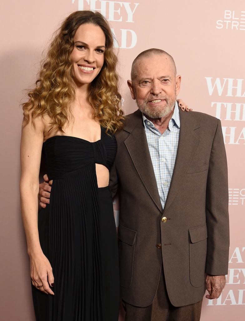 Hilary Swank and her dad Stephen