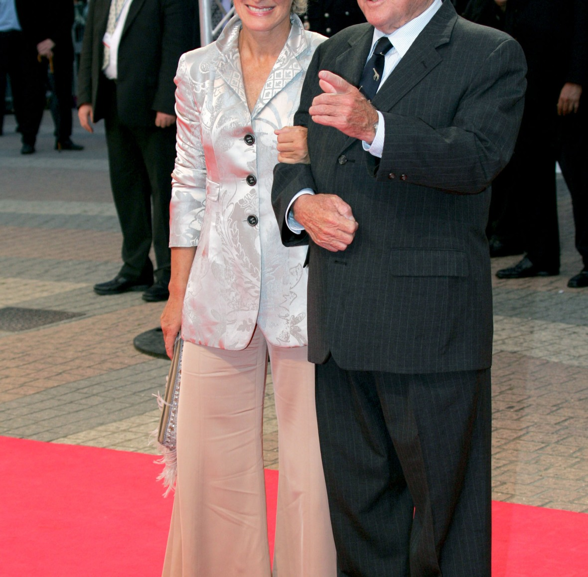 glenn and her father, dr. william. (photo credit: getty images)