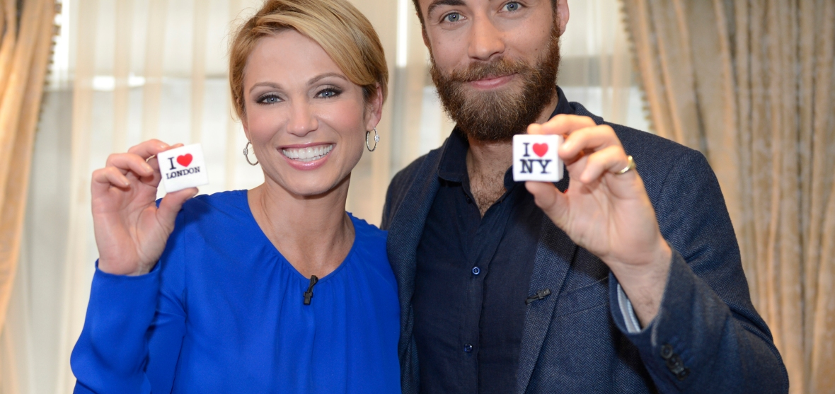 james and abc's amy robach. (photo credit: getty images)