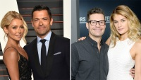 Kelly Ripa, Mark Consuelos, Ryan Seacrest, and Shayna Taylor