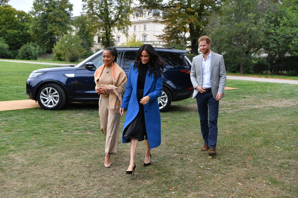 Meghan Markle, Prince Harry, and Doria Ragland