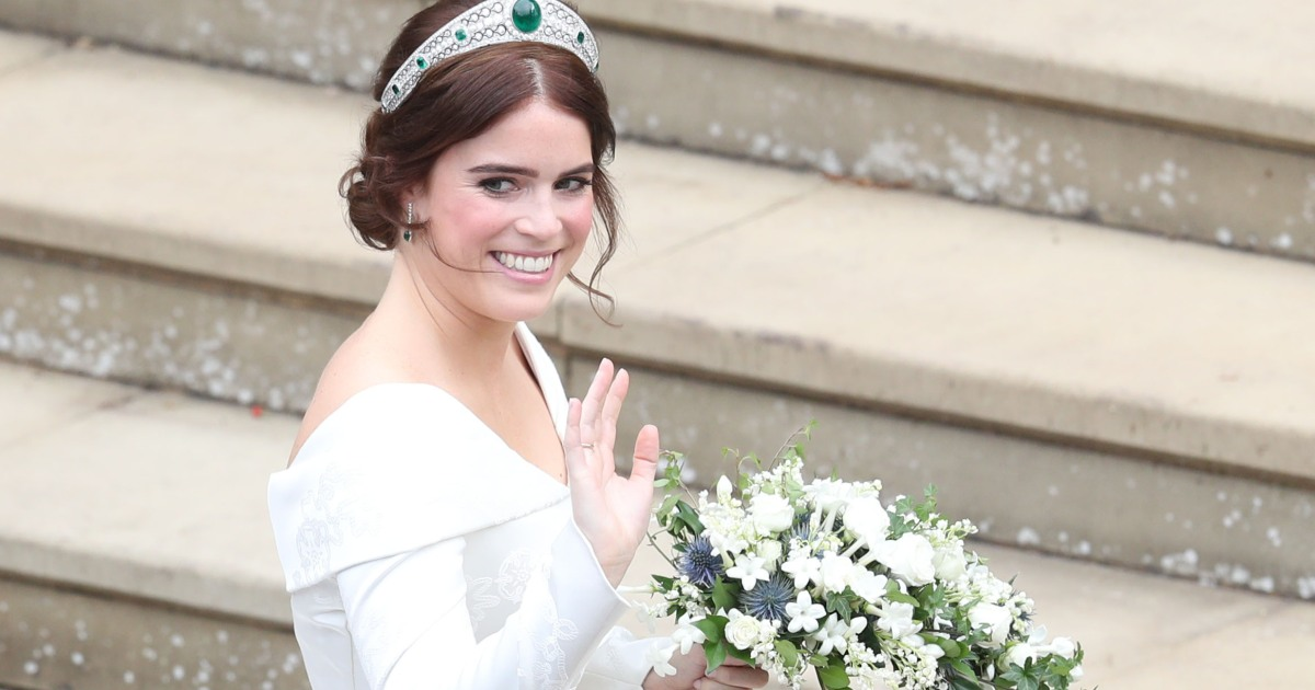Princess Eugenies Second Wedding Dress Learn The Meaning Behind