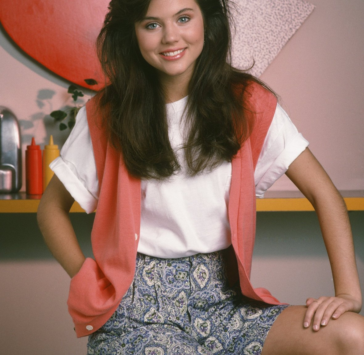 tiffani in 'saved by the bell.' (photo credit: getty images)