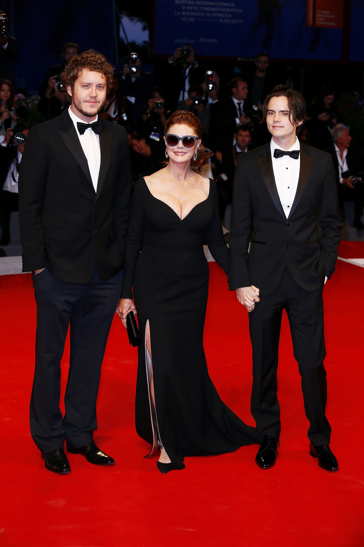 susan and her sons, jack and miles. (photo credit: getty images)