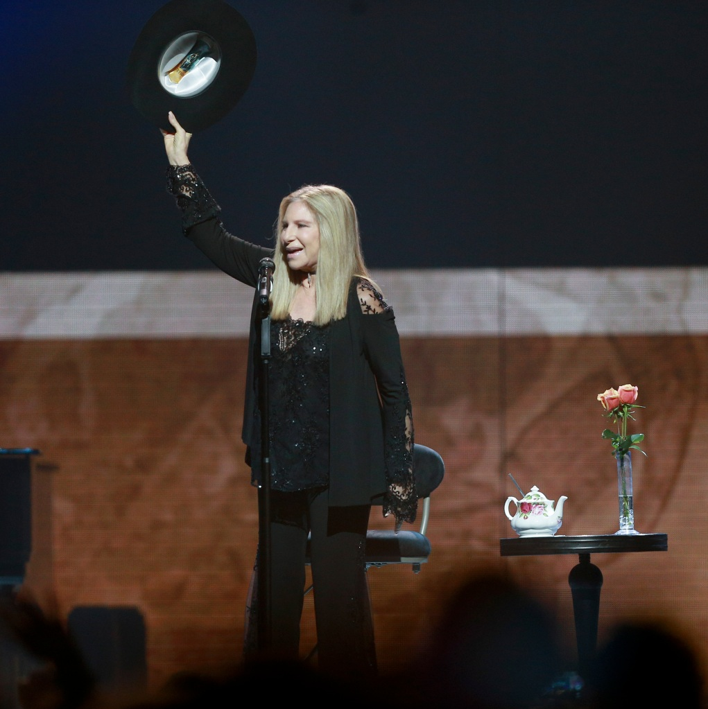 Barbra Streisand On Stage.