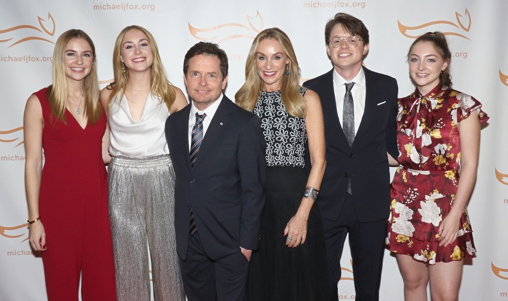 Michael J. Fox and family