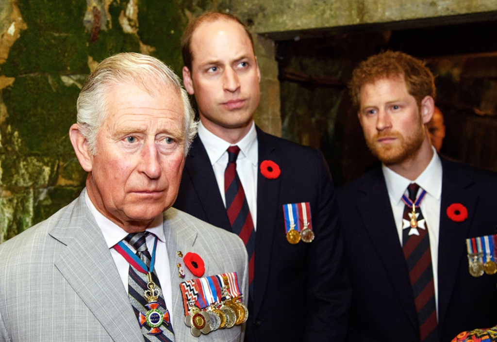 Prince Charles William Harry Trash