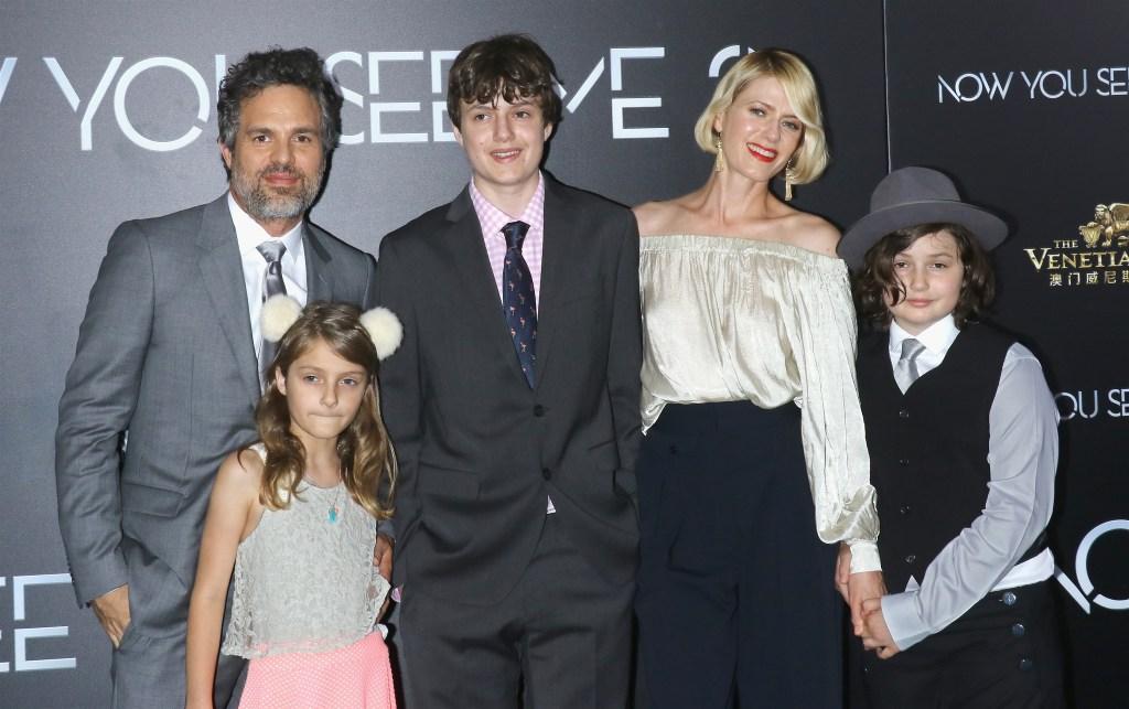 Mark Ruffalo and his family