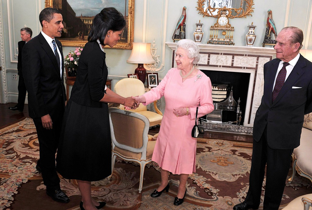 Michelle Obama and Queen Elizabeth