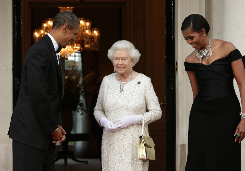 obamas and queen elizabeth