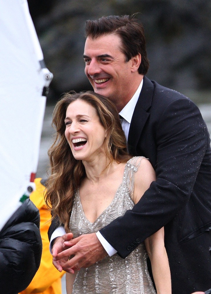 "Sarah Jessica Parker and Chris Noth on Location for ""Sex and the City"""