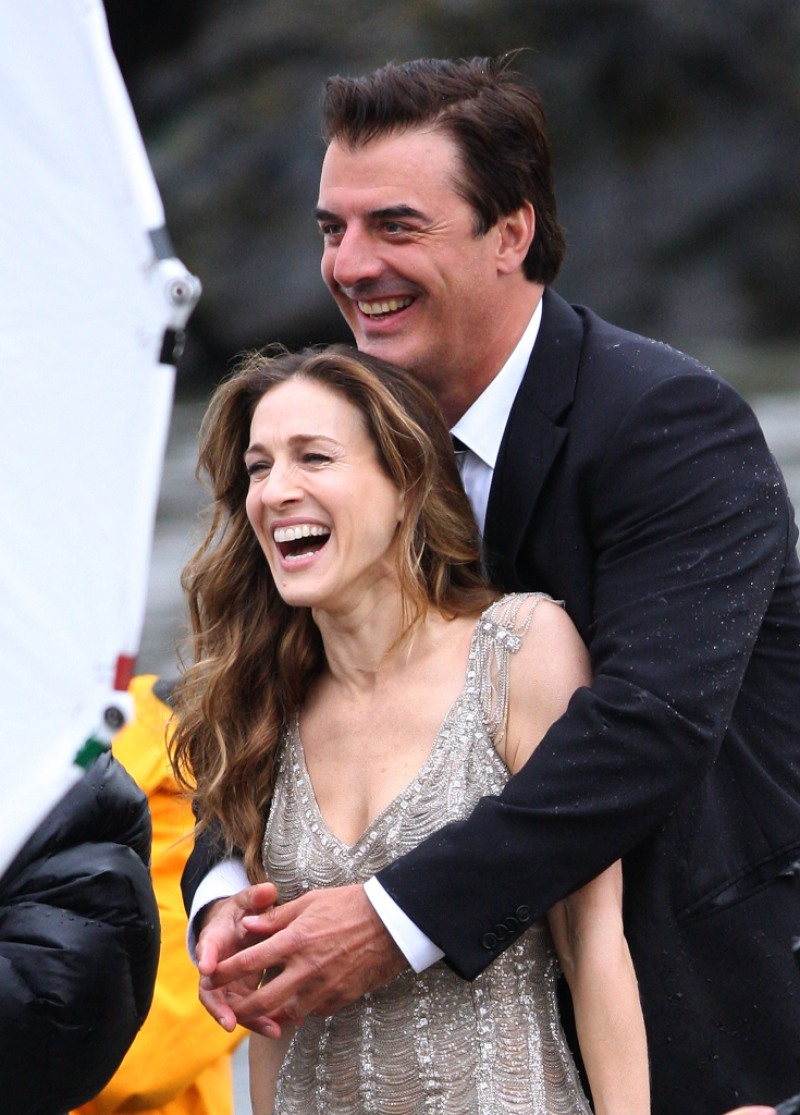 """Sarah Jessica Parker and Chris Noth on Location for """"Sex and the City"""""""