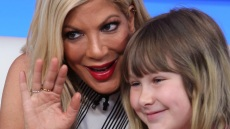 Tori Spelling and her daughter Stella