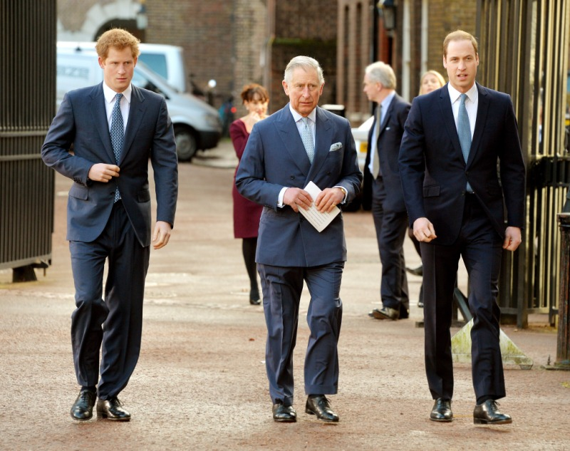 Prince Charles, Prince Harry and Prince William