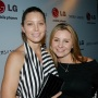 Beverley Mitchell and Jessica Biel