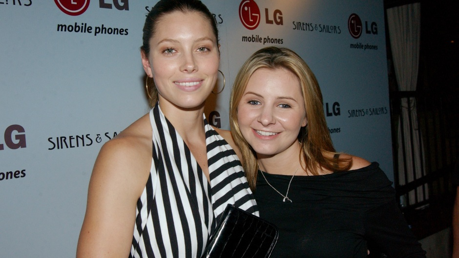 Beverley Mitchell and Jessica Biel