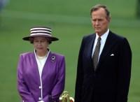 Queen Elizabeth and George Bush