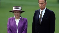 Queen Elizabeth and George Bush
