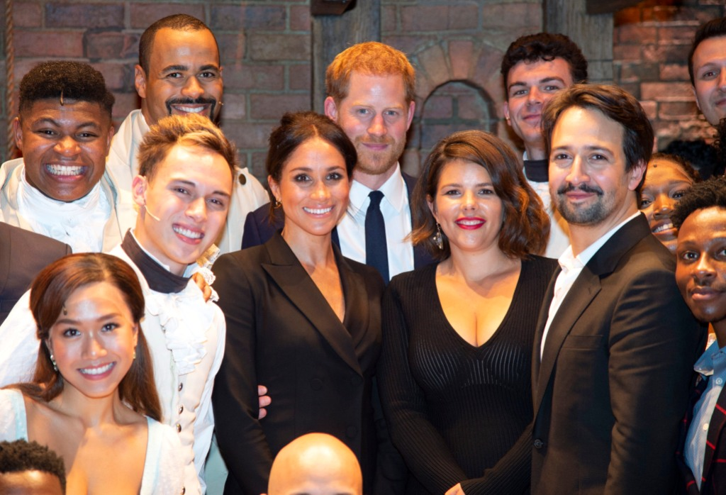 Lin-Manuel, Harry, and Meghan
