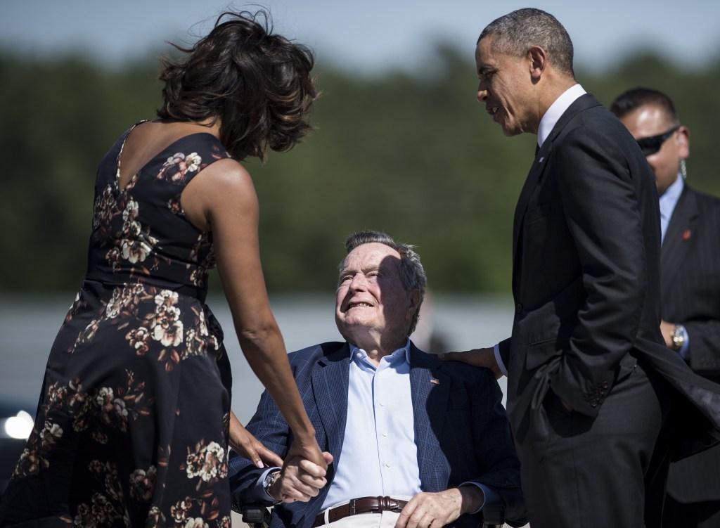 Michelle Obama, George and Barack