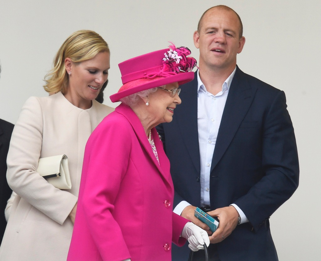 Mike Tindall and the Queen