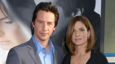 Sandra-bullock-black-dress-keanu-reeves-blue-top-grey-suit-lake-house-premiere