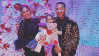 Chrissy Teigen and her family