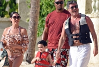 Simon Cowell Lauren Silverman Family Vacation Barbados