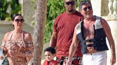Simon Cowell Lauren Silverman Family Vacation Barbados