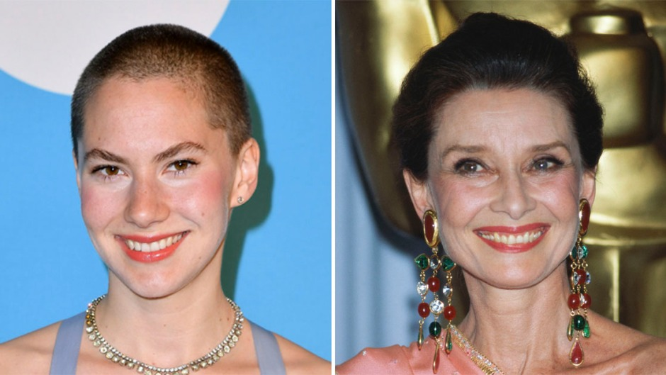 Emma Hepburn Ferrer and Audrey Hepburn