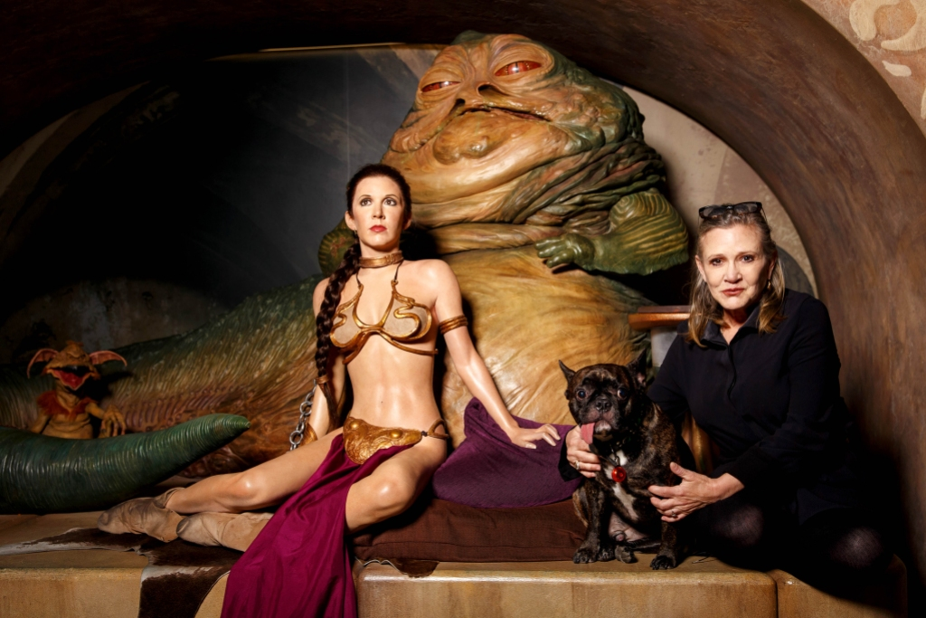 carrie-fisher-wax-figure