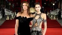 cindy-crawford-black-velvet-dress-kaia-gerber-silver-top-british-fashion-awards