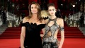 cindy-crawford-black-velvet-dress-kaia-gerber-silver-top-british-fashion-awards