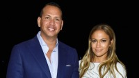 jennifer-lopez-blue-romper-alex-rodriguez-blue-suit-white-pants-hamptons