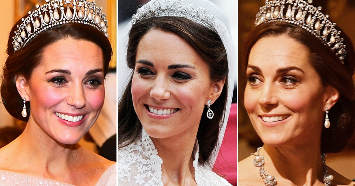 Kate Middletons Tiaras See All The Times Shes Worn A Royal Headpiece