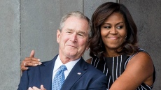 michelle-obama-george-w-bush
