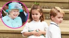 Queen Elizabeth Prince George Princess Charlotte