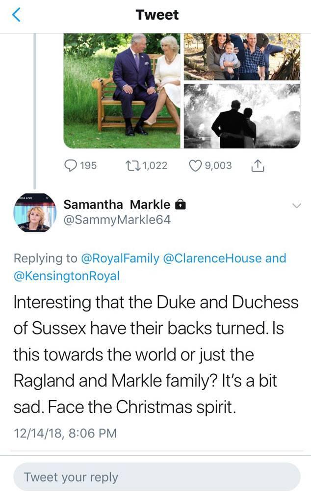 Samantha Markle Twitter