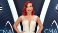 sharna-burgess-white-gown-cma-awards-arrival