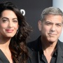 amal Clooney (L) and actor George