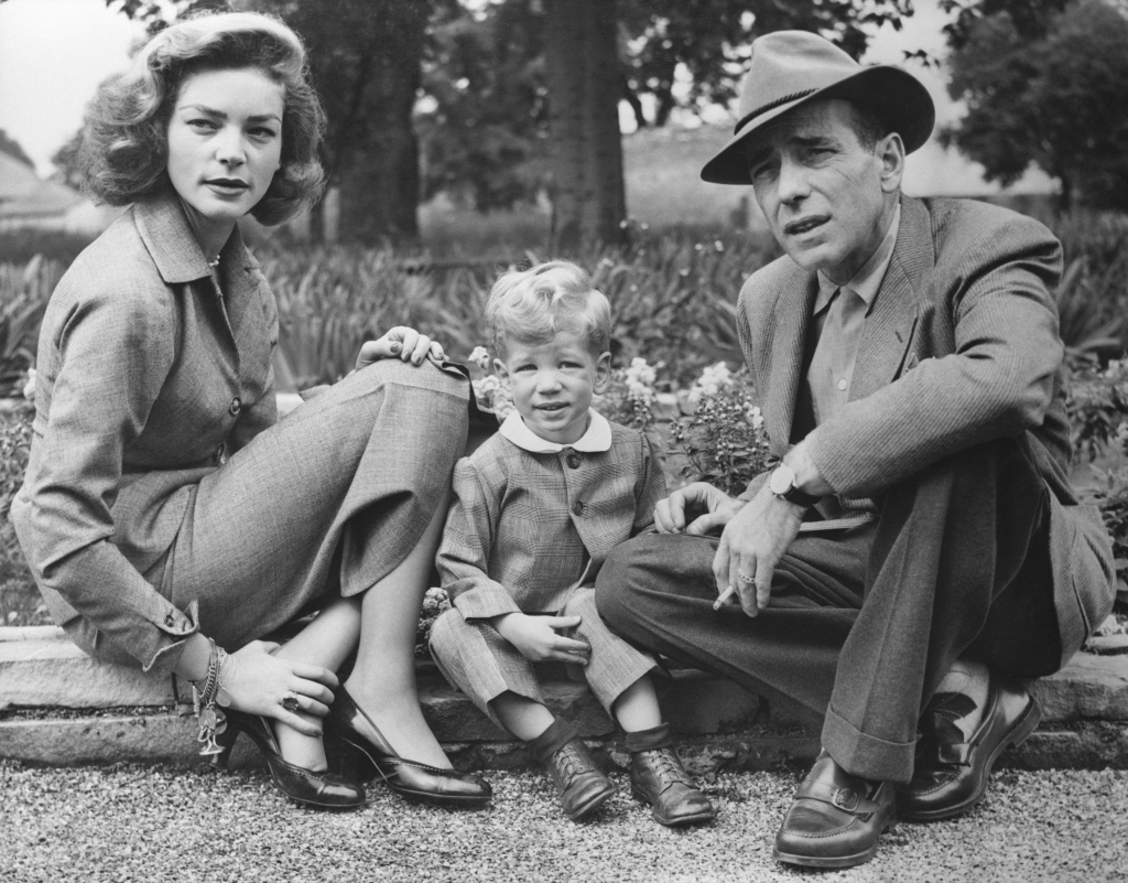 Humphrey Bogart and Lauren Bacall with Their Son