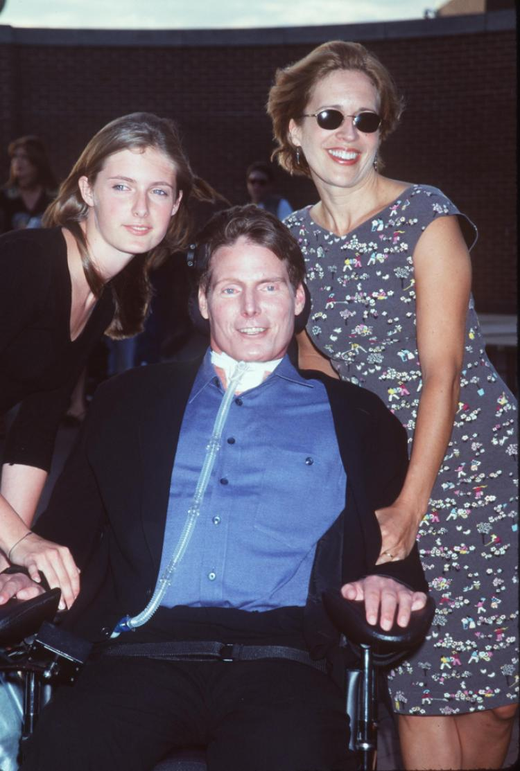 Christopher-Reeve-wife-and-daughter
