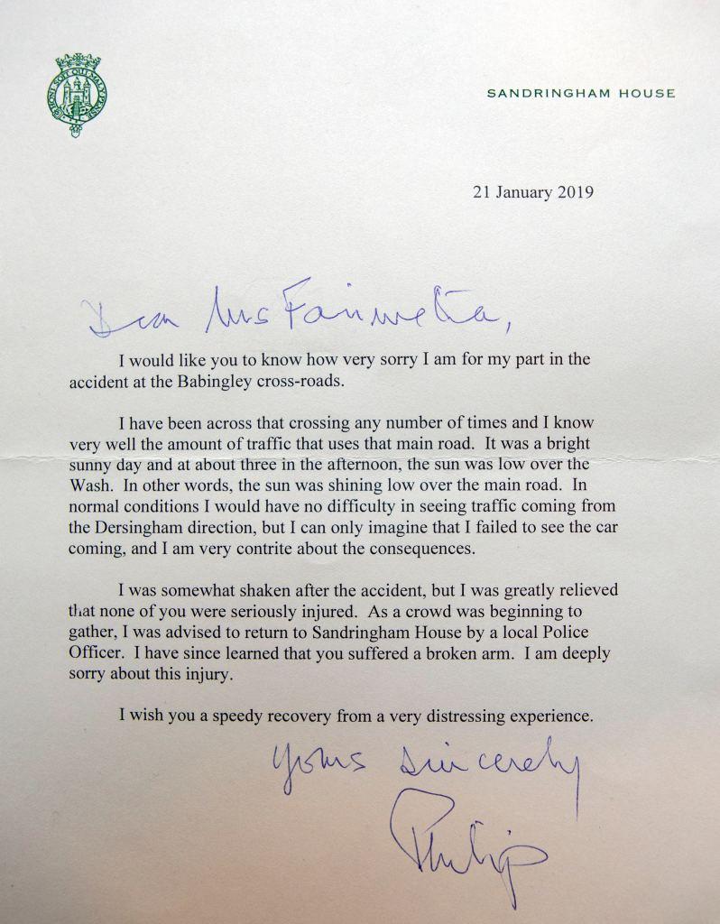 Prince Philip Letter