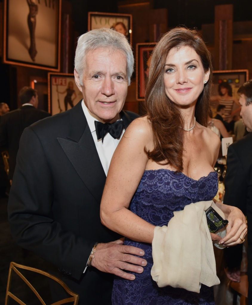 V personality Alex Trebek (L) and Jean Trebek attend the 2014 AFI Life Achievement Award: A Tribute to Jane Fonda at the Dolby Theatre
