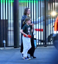 Angelina Jolie spotted at karate with daughter Vivienne in Los Angeles